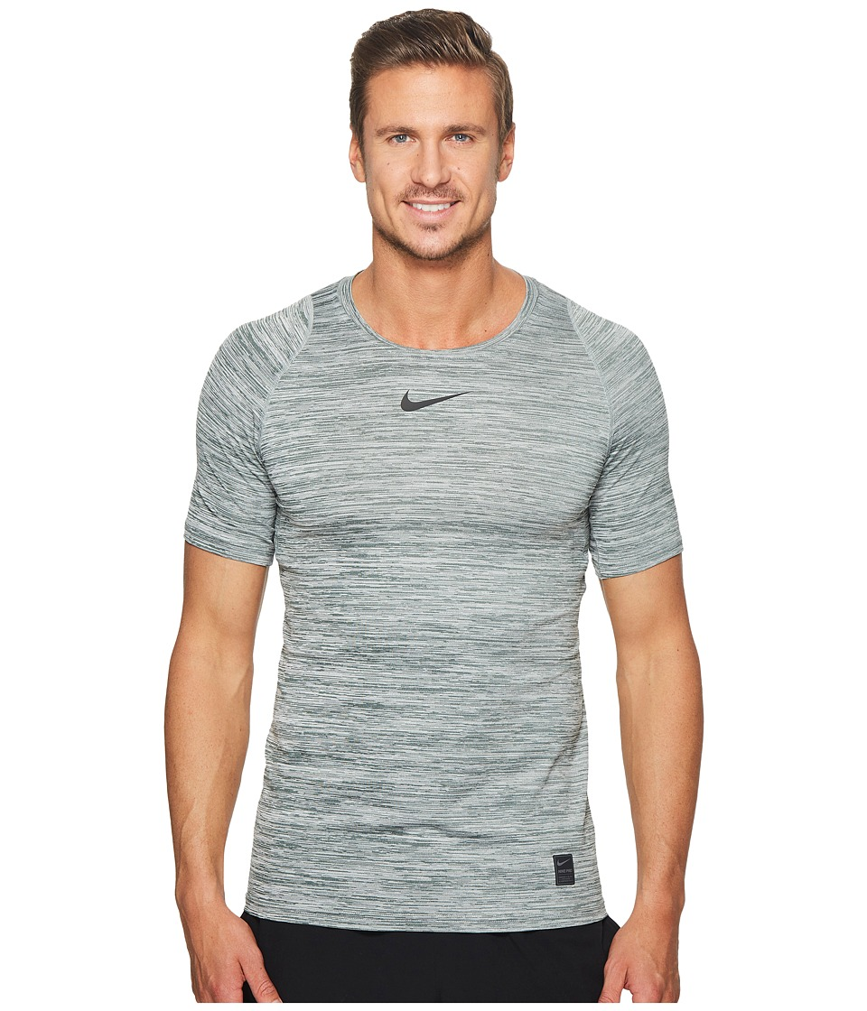 Nike Pro Heathered Short Sleeve Training Top (Vintage Gre...