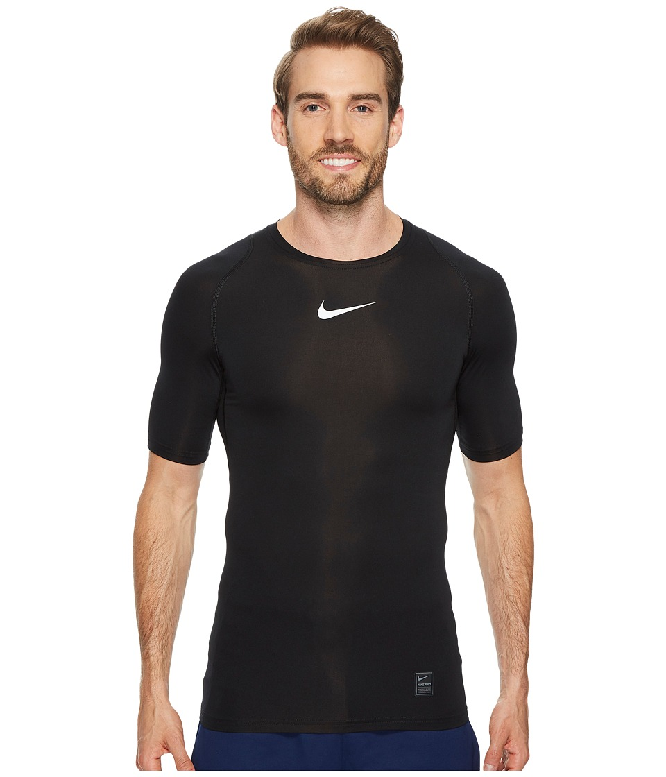 Nike Pro Compression Short Sleeve Training Top (Black/Whi...