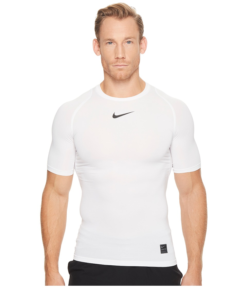Nike Pro Compression Short Sleeve Training Top (White/Bla...