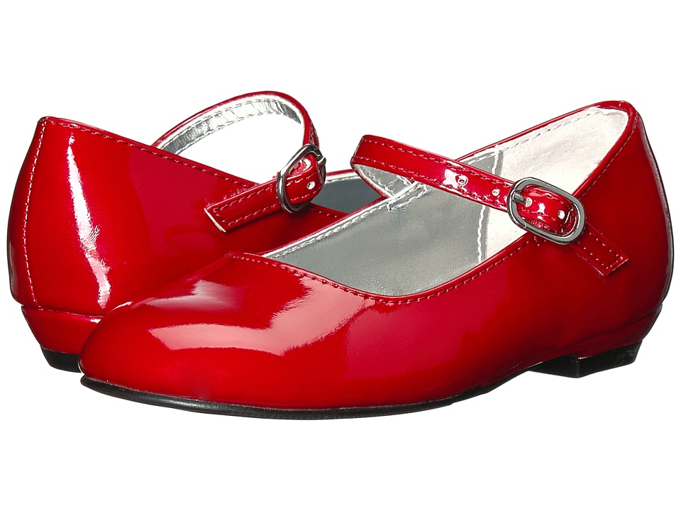 Nina Kids Lil-Seeley (Toddler/Little Kid) (Red Patent) Girl's Shoes