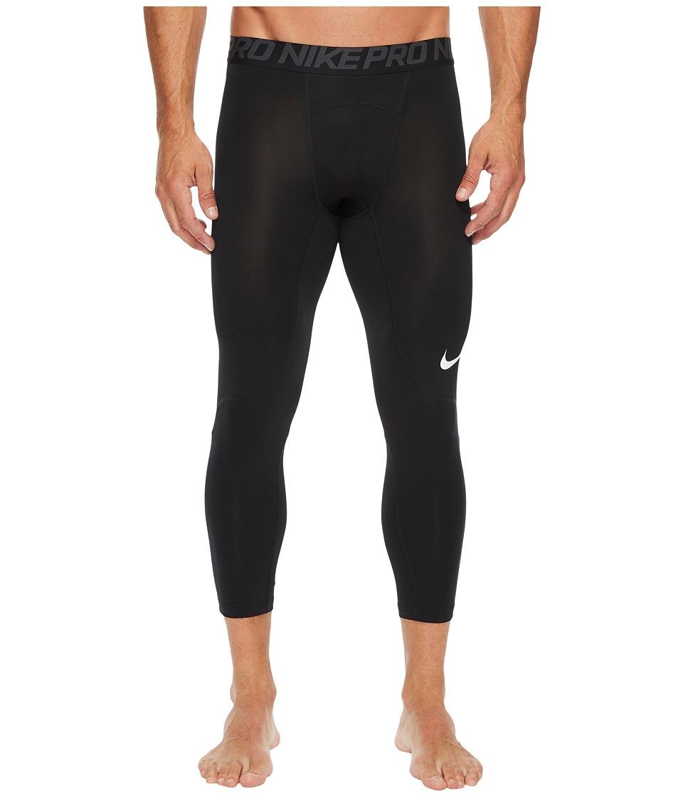 Nike Pro 3/4 Tight (Black/Anthracite/White) Men