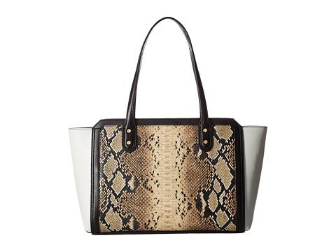 Ivanka Trump Soho Solutions Top Zip Shopper - Dove Snake Color Block