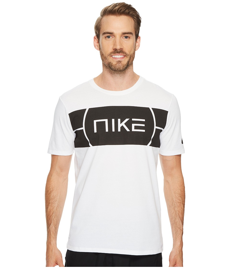 Nike Dry Elite Basketball T-Shirt (White/White) Men
