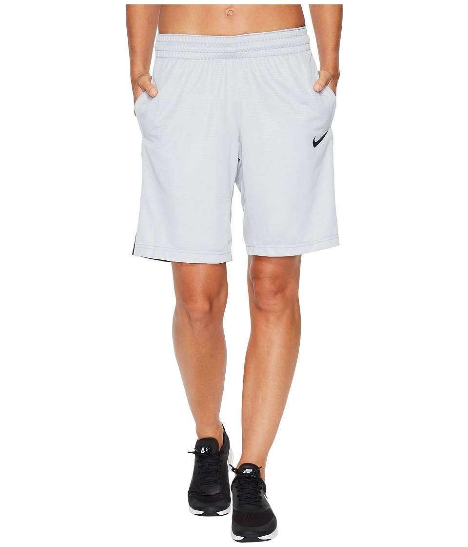 Nike Dry Essential 10 Basketball Short (Wolf Grey/Black/Wolf Grey/Black) Women