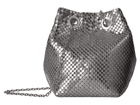 Jessica McClintock Kendra Mesh Bucket Bag - Silver