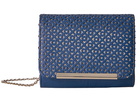 Jessica McClintock Katie Perforated Shoulder Bag - Navy