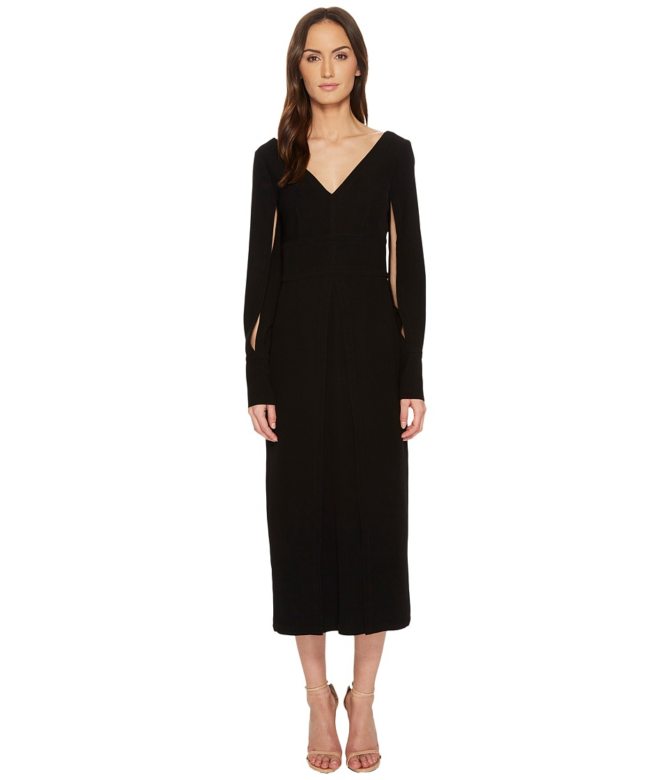 YIGAL AZROUEL - Polyester Double Satin Suiting Crepe Dres...