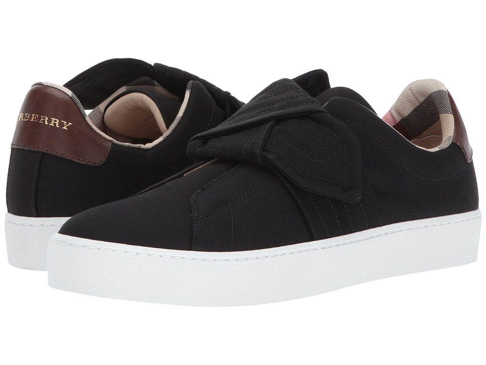 Burberry Trench Knot Cotton Gabardine Trainers (Black) Women