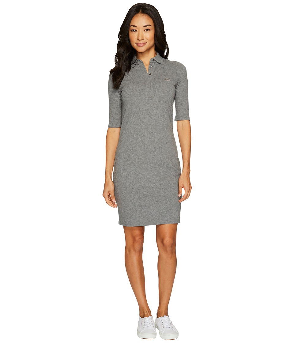 Lacoste 1/2 Sleeve Stretch Pique Polo Dress (Galaxite Chine) Women