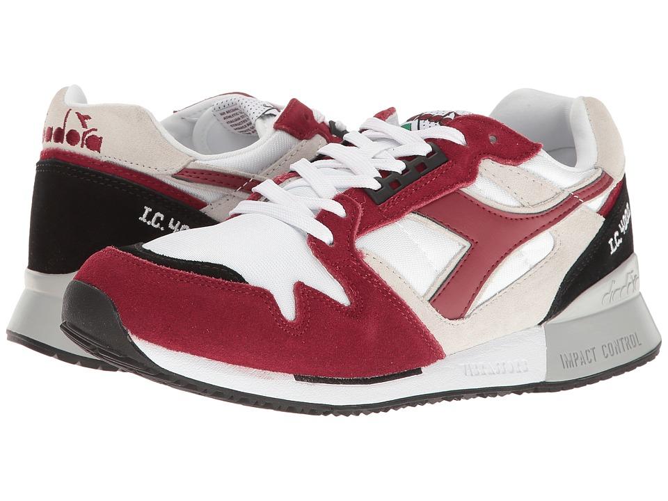 Diadora I.C 4000 NYL II (White/Tibetan Red) Athletic Shoes