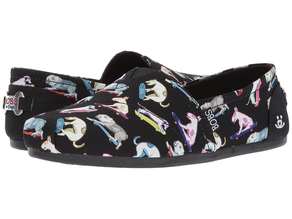 BOBS from SKECHERS Bobs Plush (Black Multi) Women
