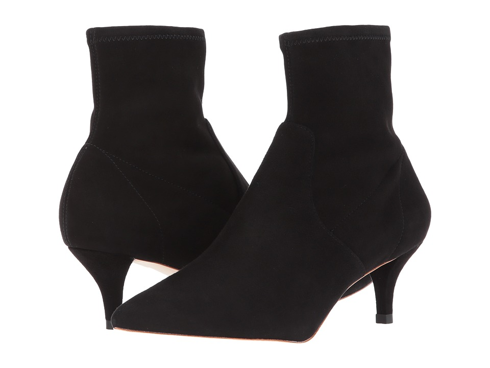 Loeffler Randall Kassidy (Black Stretch Suede) Women's Shoes