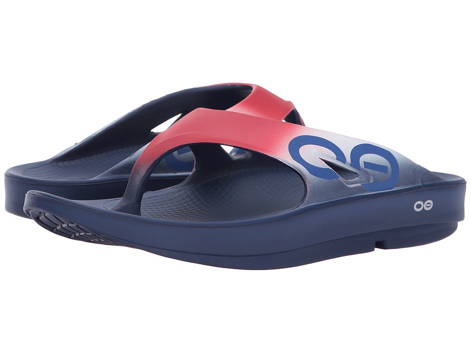 OOFOS - OOriginal Sport Sandal (Red/White) Sandals