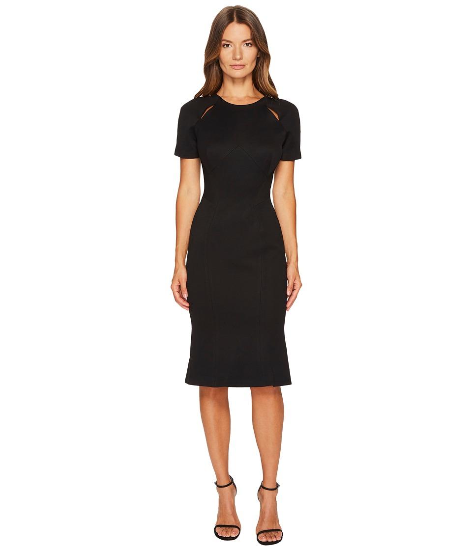 Zac Posen Bondage Jersey Short Sleeve Dress (Black) Women