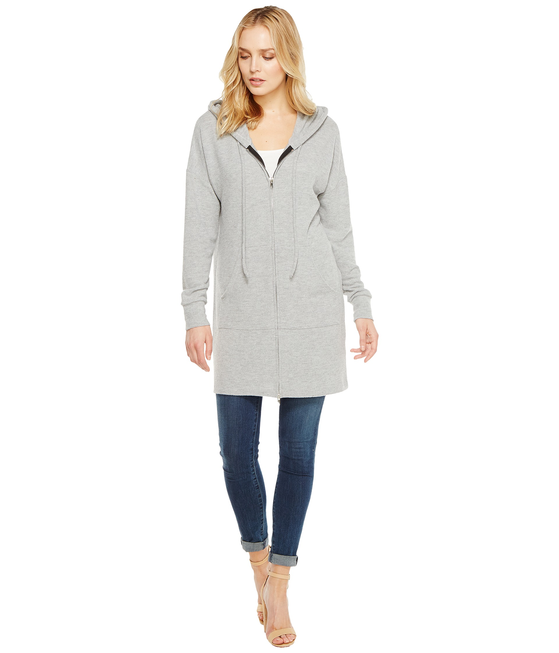 LNA Zip-Up Hoodie Dress at Zappos.com