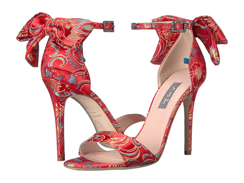 SJP by Sarah Jessica Parker Trance Bis (Red Flower Satin) Women