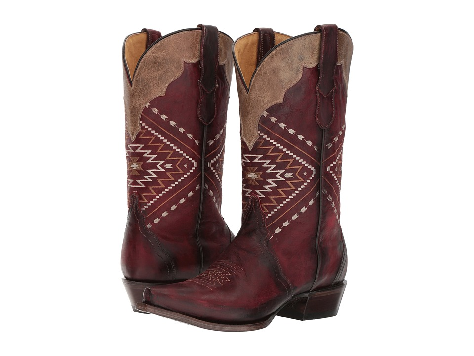 Roper Native (Red Leather) Cowboy Boots