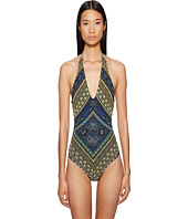 FUZZI - One-Piece Stripe Swimsuit