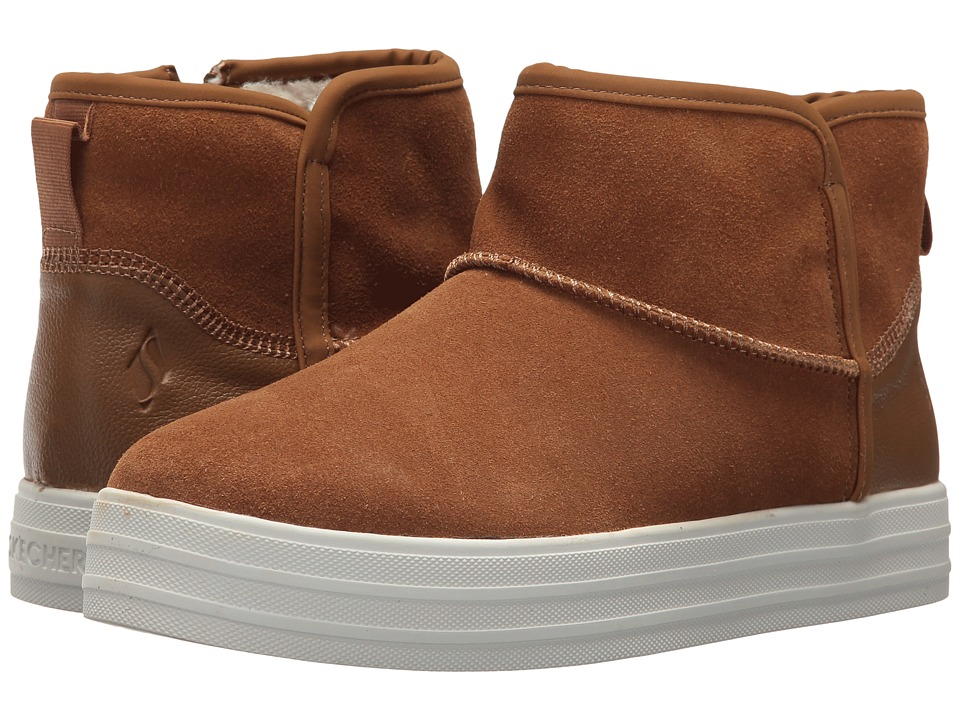 SKECHERS Double Up Shorty (Chestnut) Women