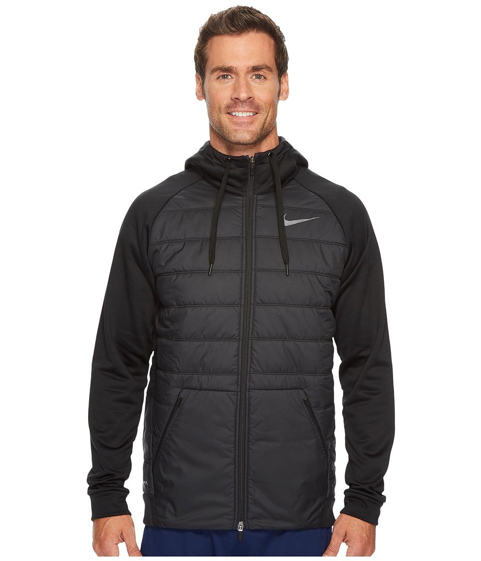 Nike Therma Training Jacket (Black/Black Metallic Hematite) Men