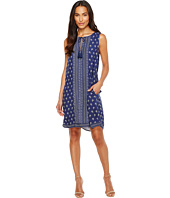 TWO by Vince Camuto - Paisley Stamp Tassle-Tie Swing Dress
