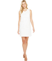 TWO by Vince Camuto - Sleeveless White Denim Frayed Edge Shift Dress