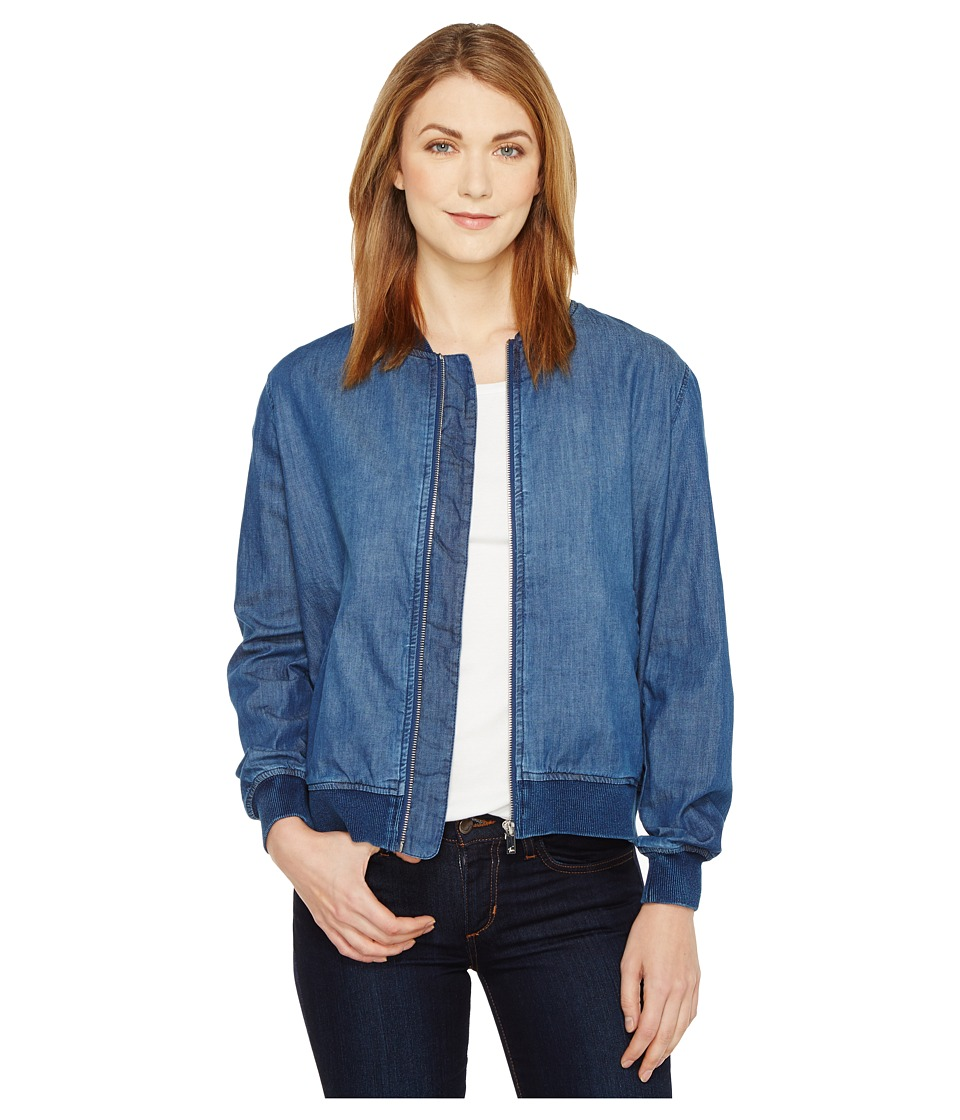 TWO by Vince Camuto - Washed Denim Bomber Jacket