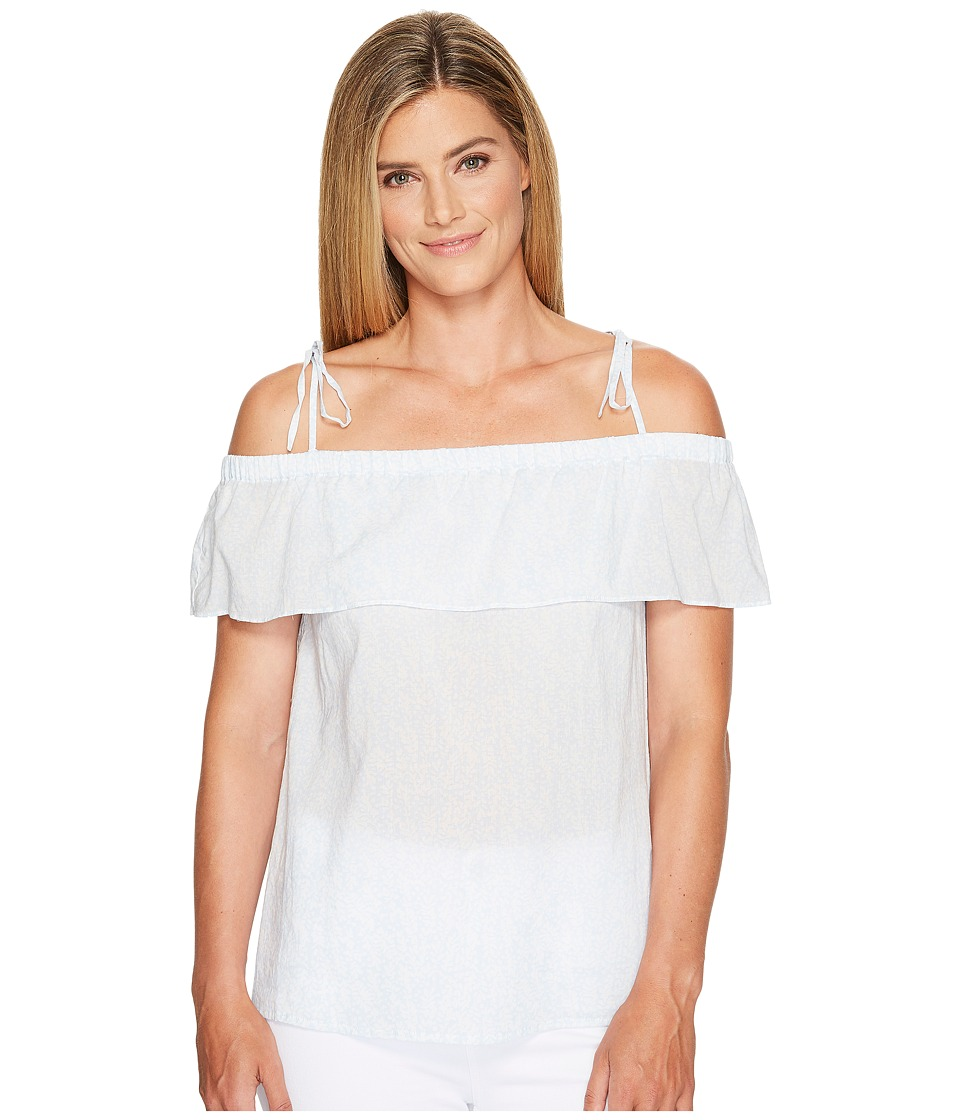TWO by Vince Camuto - Cascading Petals Tied Cold Shoulder Blouse