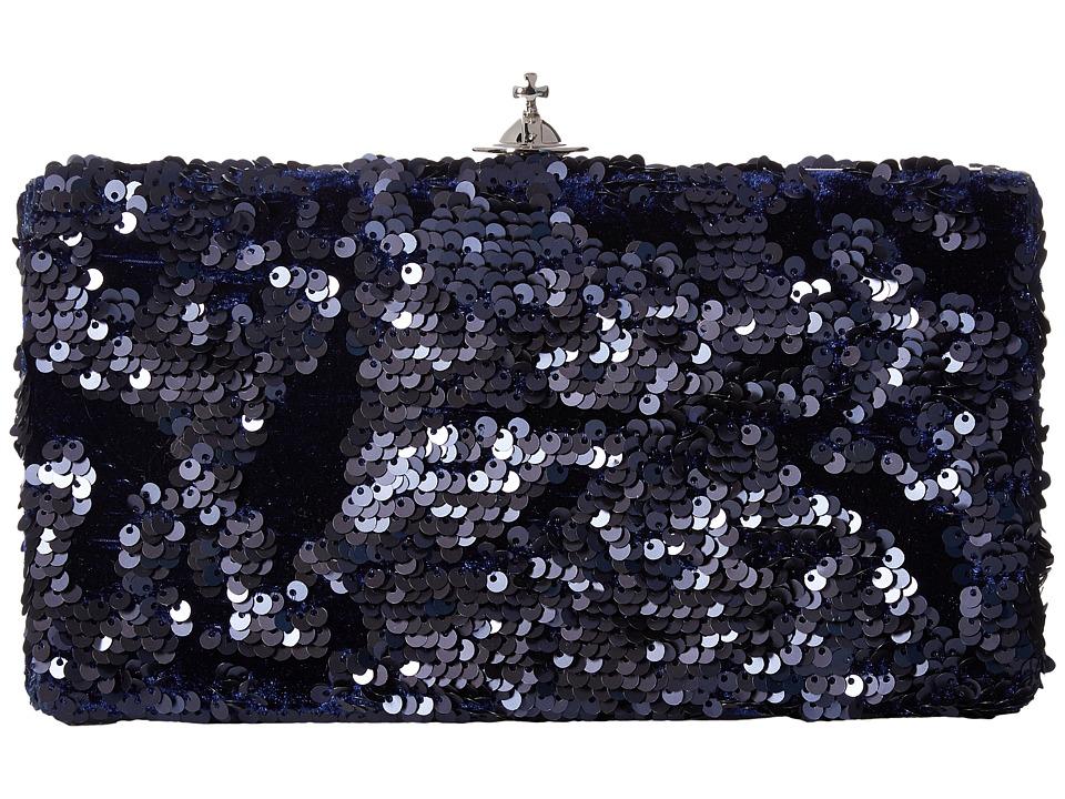 Vivienne Westwood Large Clutch Rome (Navy) Clutch Handbags