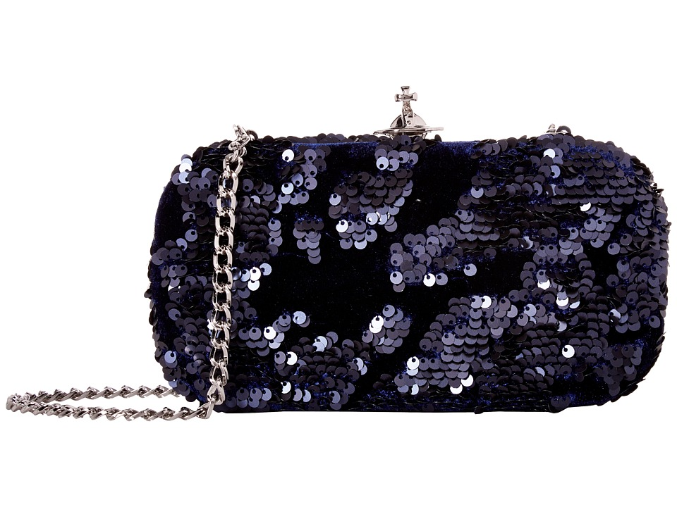 Vivienne Westwood Medium Clutch Rome (Navy) Clutch Handbags