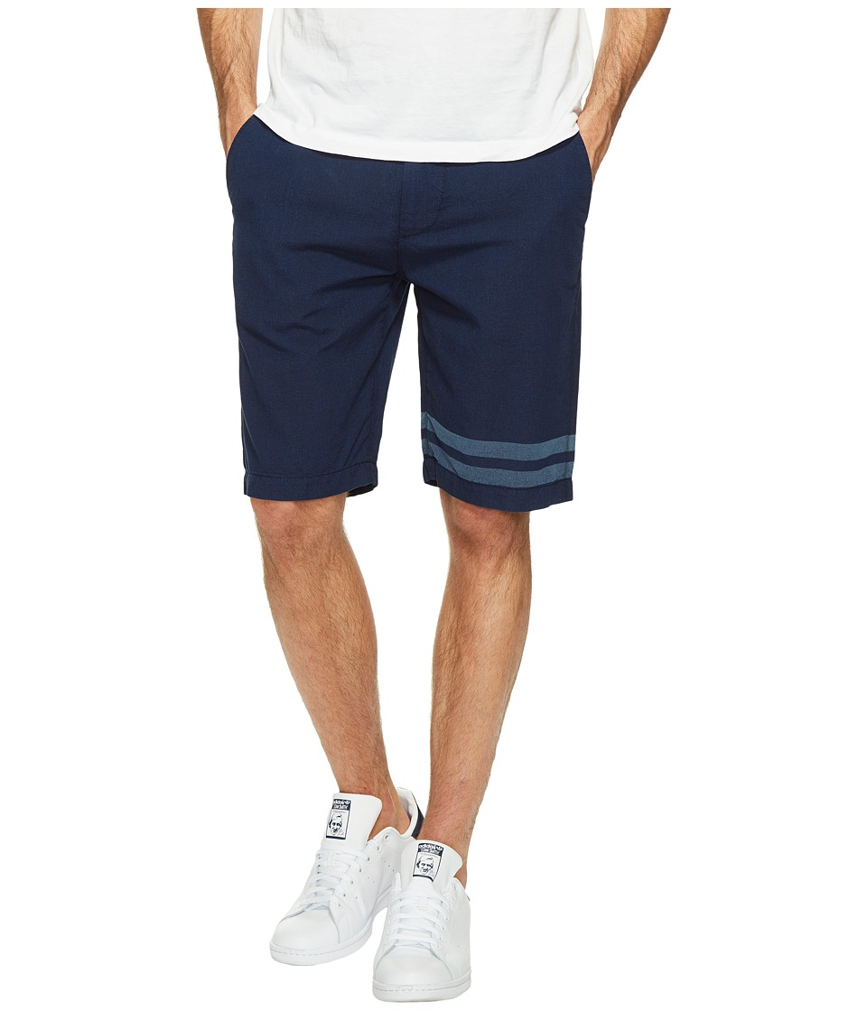 7 For All Mankind The Chino Shorts in Dark Chambray Stripe (Dark Chambray Stripe) Men