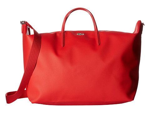 Lacoste L.12.12 Concept Travel Shopping Bag - High Risk Red