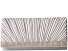 Jessica McClintock Chloe Pleated Satin Clutch