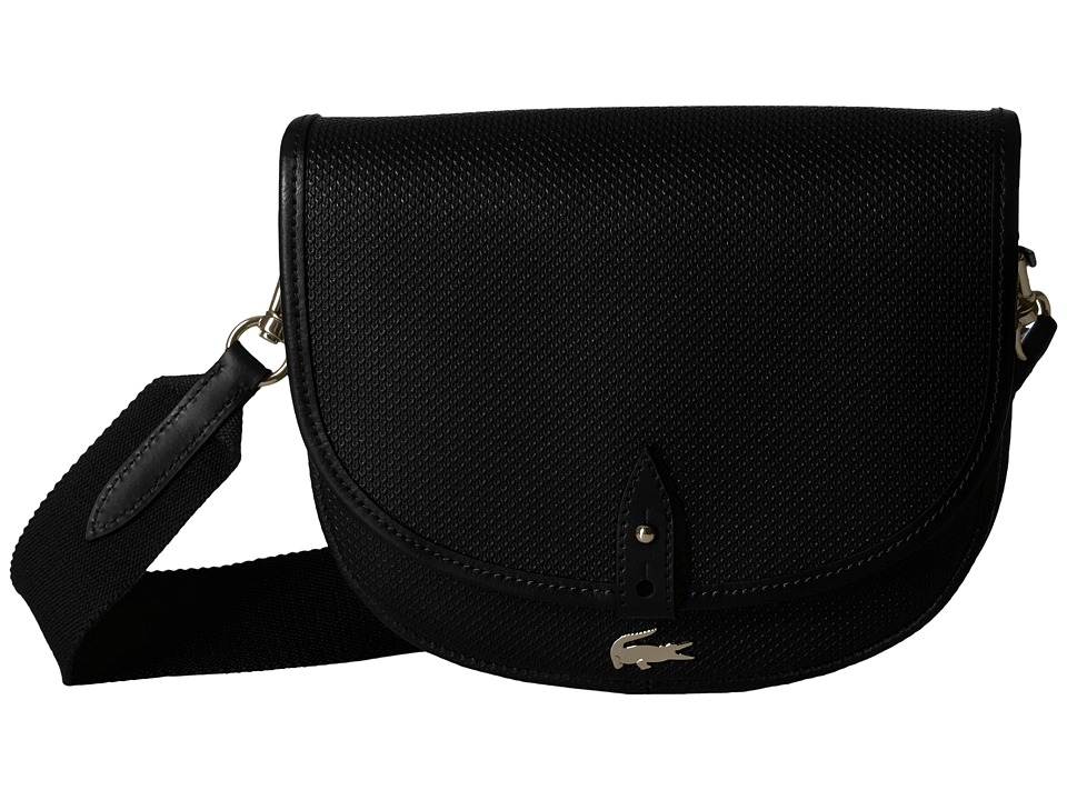 Lacoste - Chantaco Round Crossover Bag (Black) Handbags