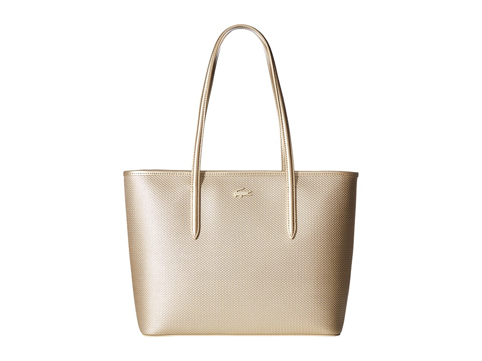 Lacoste - Chantaco Holidays Medium Zip Shopping Bag (Rich Gold) Handbags