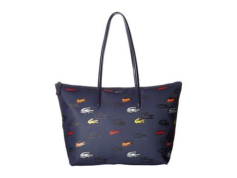 Lacoste L.12.12 Concept Croc Large Shopping Bag - Blue Fob