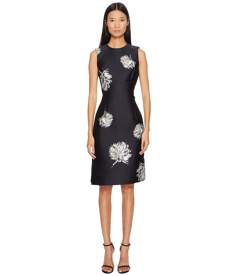 Prabal Gurung Lurex Jacquard Sleeveless Dress (Black/Silver) Women