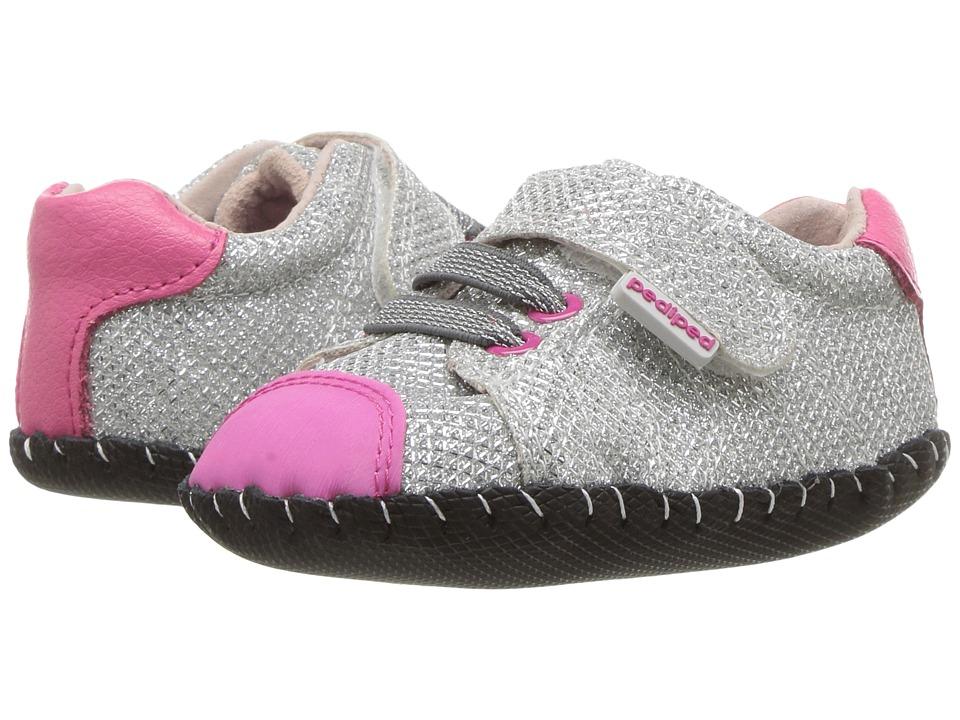 pediped Jake Originals (Infant) (Silver) Girl's Shoes