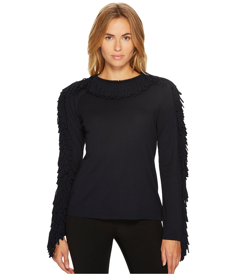 Sonia Rykiel - Plain Jersey Long Sleeve Top (Black) Womens Clothing