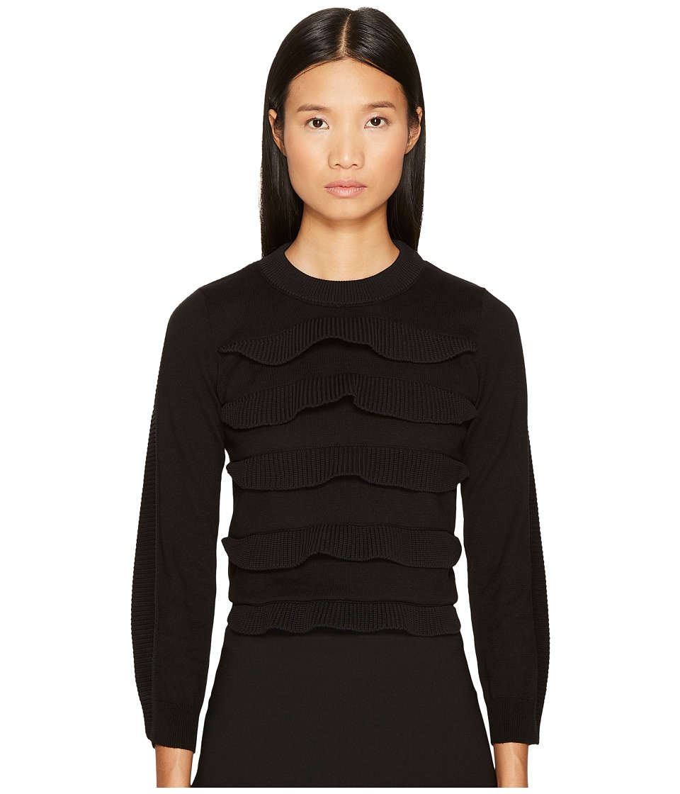 Sonia by Sonia Rykiel - Cotton with Tech Ruffles Sweater