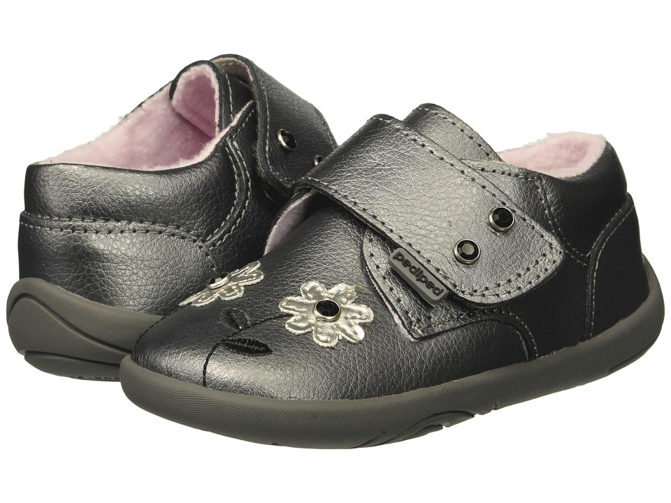 pediped Aryanna Grip n Go (Toddler) (Pewter) Girl's Shoes