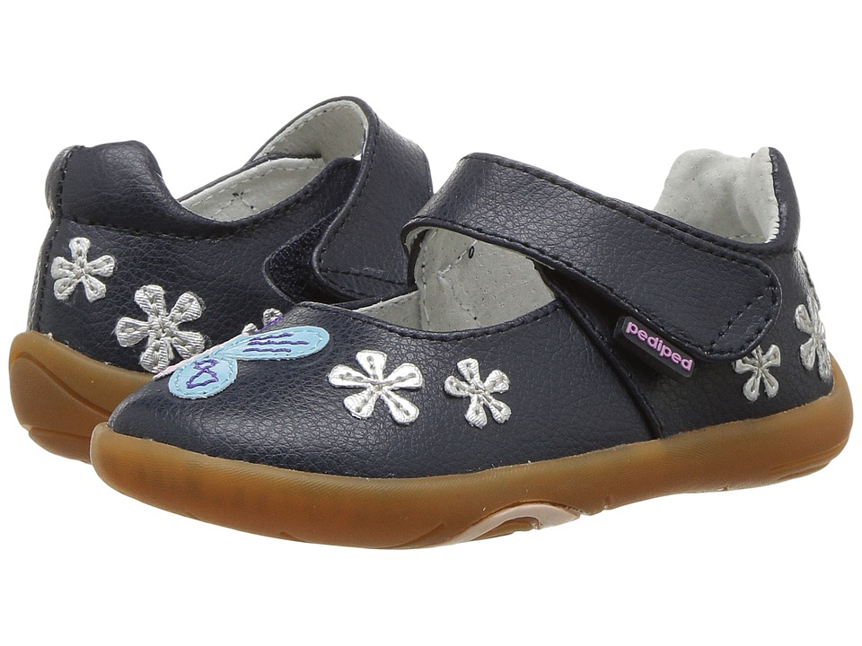 pediped Allyson Grip n Go (Toddler) (Navy) Girl's Shoes