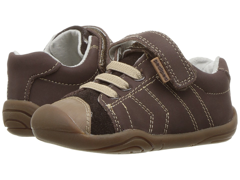 pediped Jake Grip n Go (Toddler) (Chocolate) Boy's Shoes