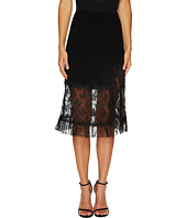 Sonia by Sonia Rykiel - Crepe Satin & Dentelle Skirt
