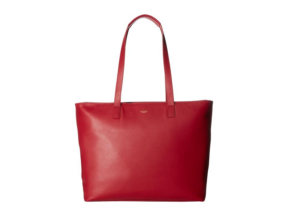 KNOMO London - Mayfair Luxe Maddox Top Zip Tote (Chili) Tote Handbags