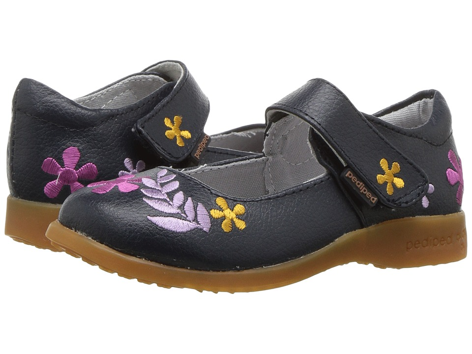 pediped Tabitha Flex (Toddler/Little Kid) (Navy) Girl's Shoes