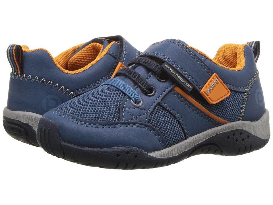pediped Justice Flex (Toddler/Little Kid) (Navy/Orange) Boy's Shoes