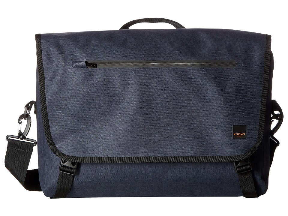 KNOMO London Thames Rupert Rolltop Messenger (Blue) Messenger Bags
