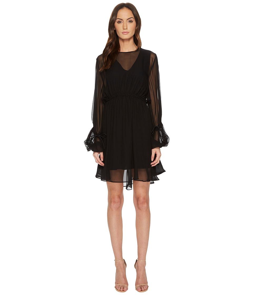 Sportmax Amelia Jersey 3/4 Sleeve Dress (Black) Women's D...