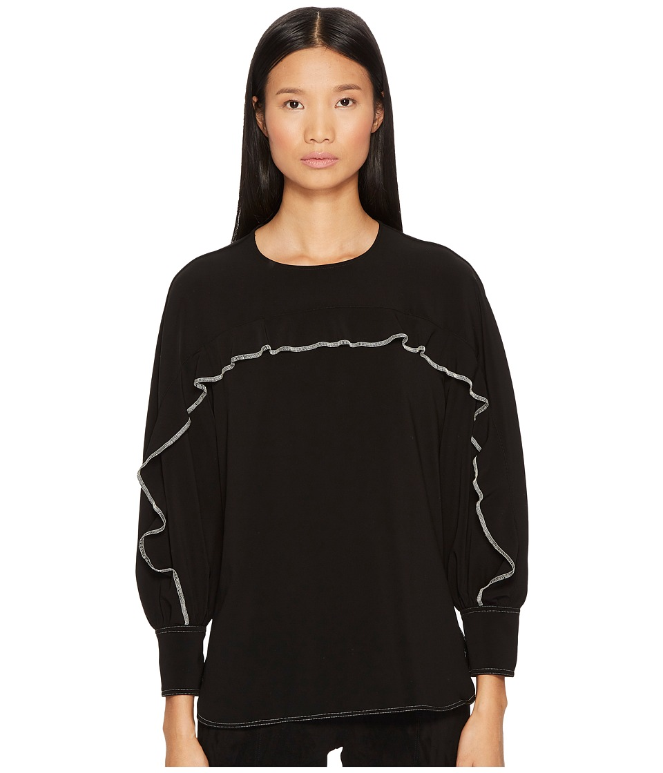 Sportmax - Avion Long Sleeve Ruffle Shirt